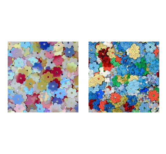Pinflair Tiny Flower Sequins, 6mm, pack of 5g