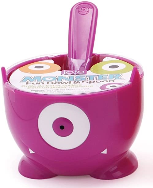 Joie Monster Fun Bowl & Spoon - 12 ounce Purple