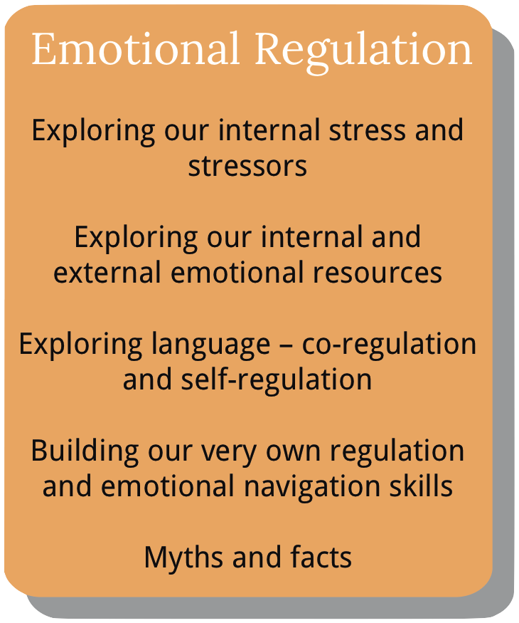 Information about course module 5. Emotional Regulation.