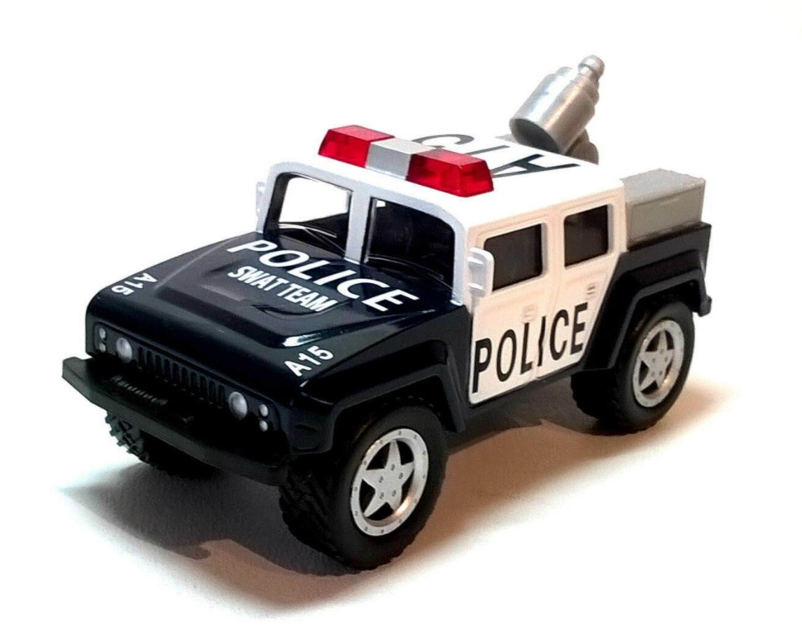 CHUNKIES OFF ROAD POLICE SWAT 4x4 CAR - Fit The Box Die-Cast Model by Corgi