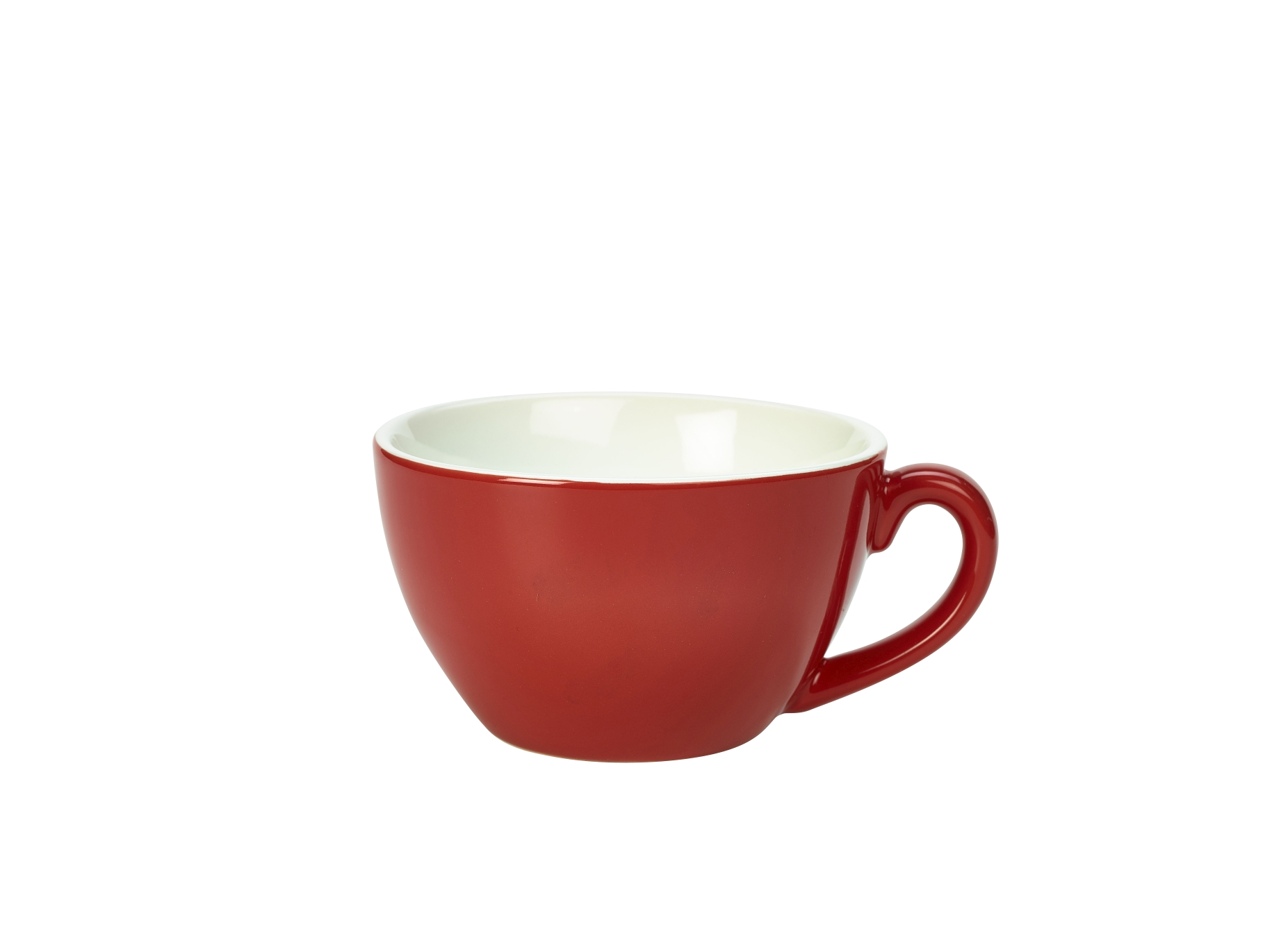 Genware Porcelain Bowl Shaped Cup 34cl Red
