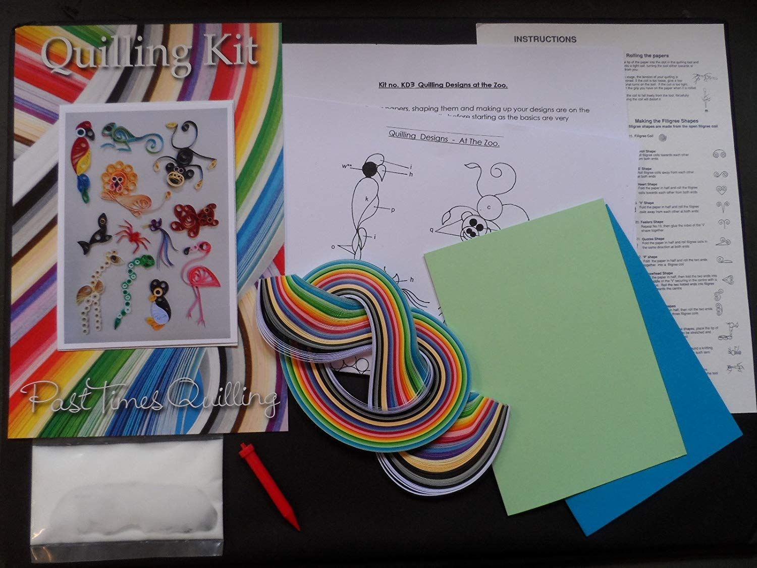 Quilling Kit - Designs at the Zoo