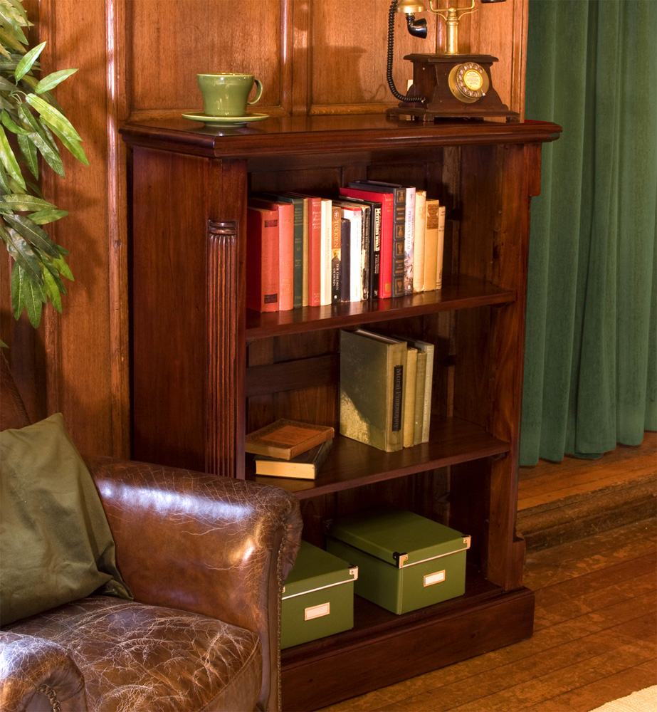 LA ROQUE - MAHOGANY LOW OPEN BOOKCASE