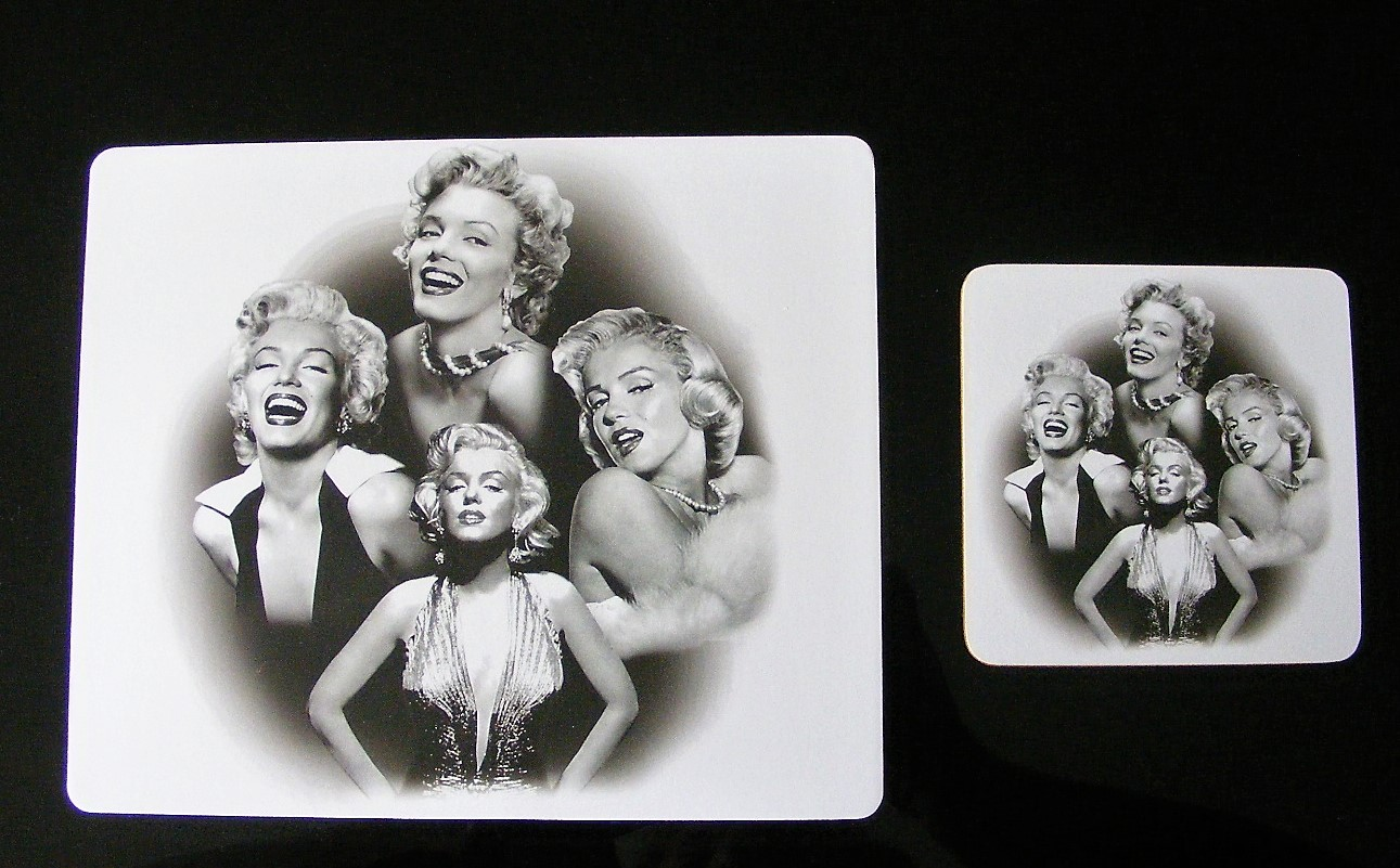 Marilyn Monroe Mouse Mat & Coaster Set