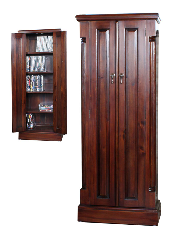 LA ROQUE - MAHOGANY CD/DVD CUPBOARD