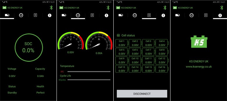 KS Energy Bluetooth battery monitor app