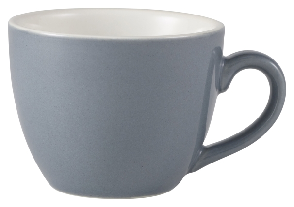 Genware Porcelain Bowl Shaped Cup 9cl Grey