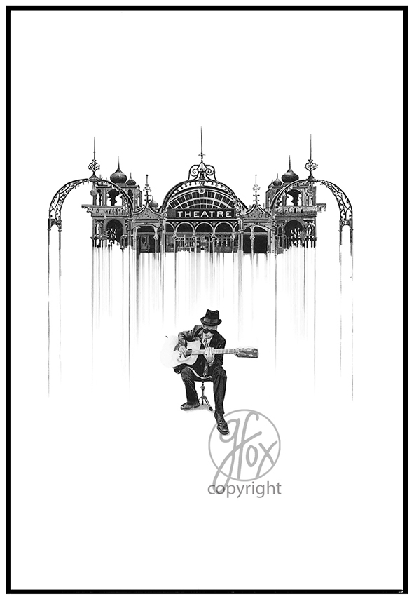 I. 'Pier Tunes' Signed Print