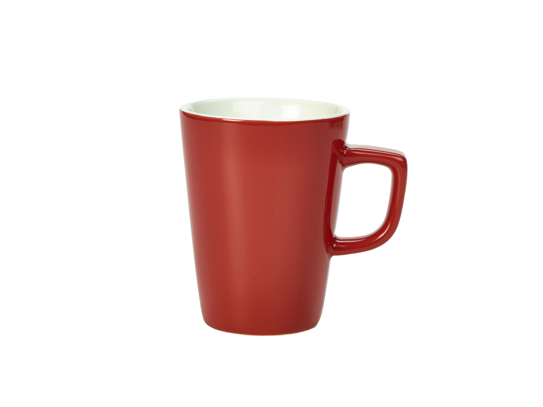 Genware Porcelain Latte Mug 34cl Red