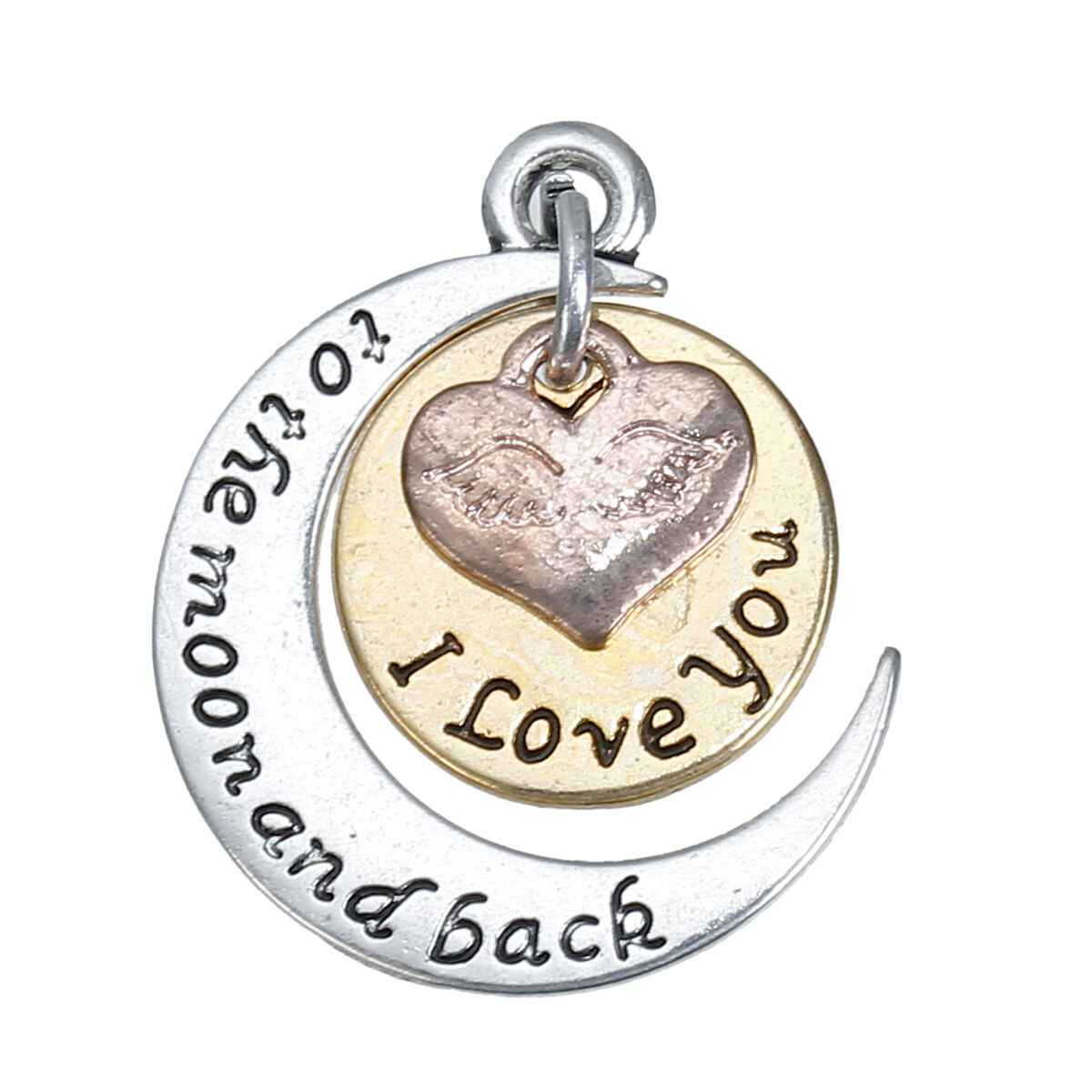 I Love you to the moon and  back Silver Plated Necklace in Gift Box