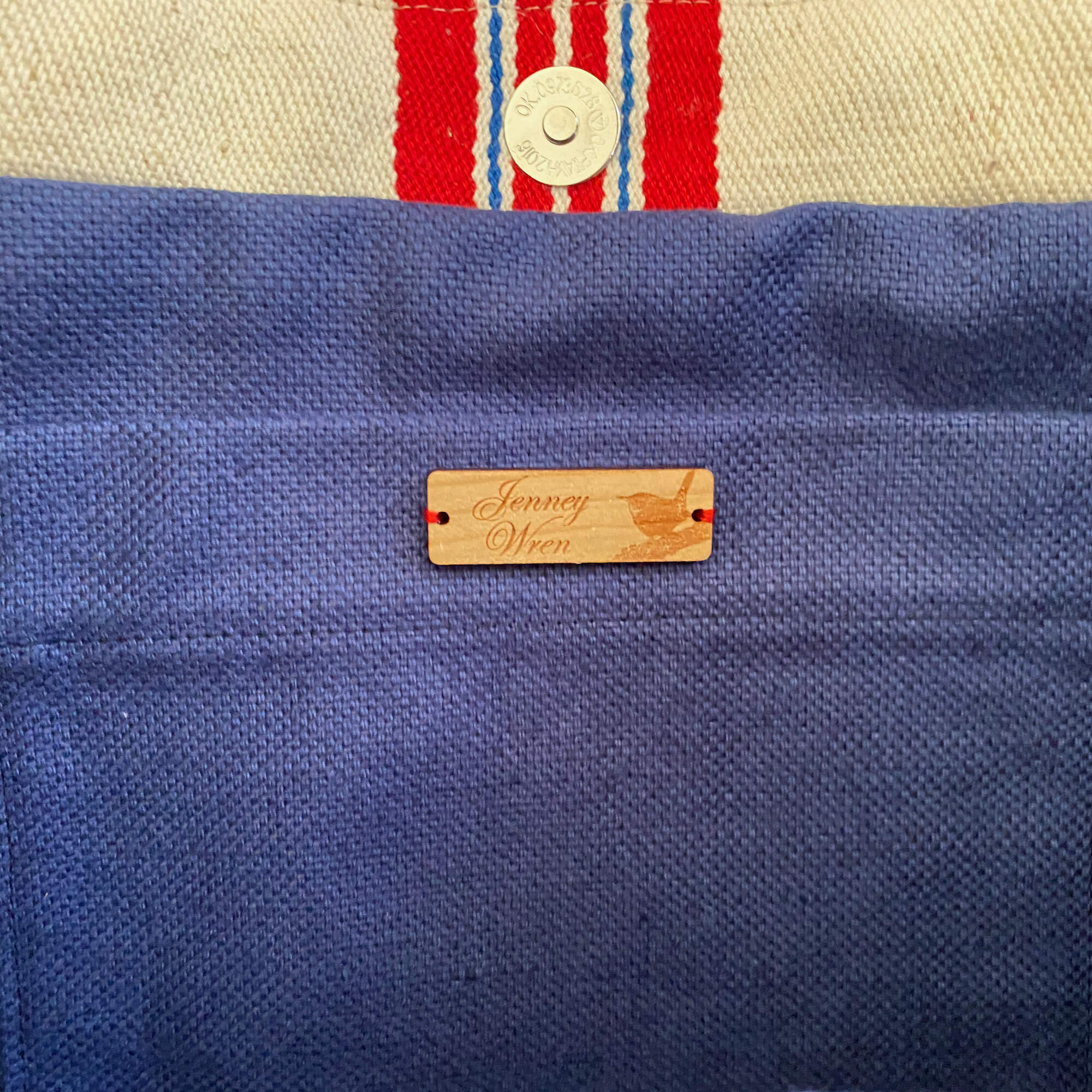 Red & Blue Stripe Hopsack