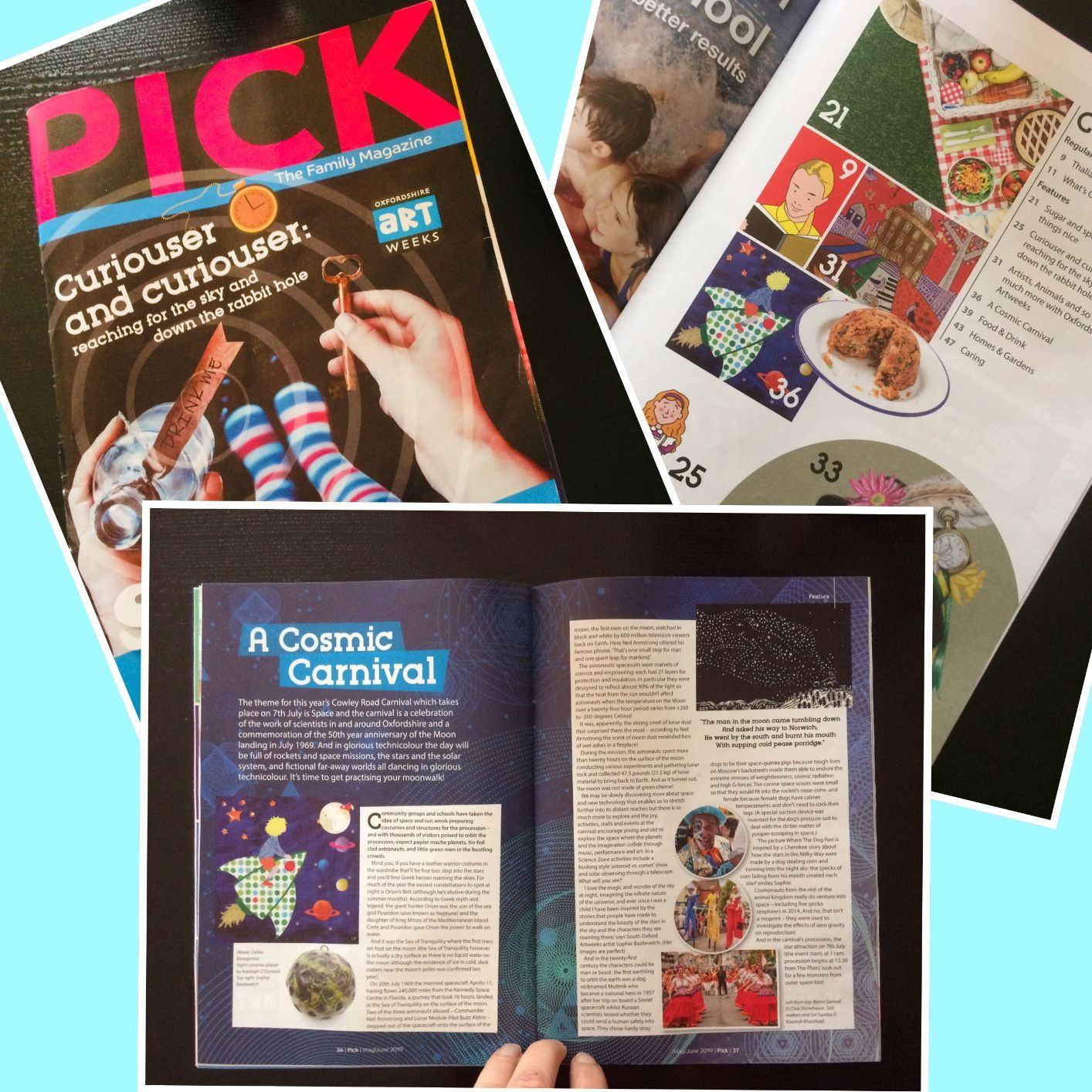 "Arty Kiddy artwork pictured in ""Pick"" Magazine!"