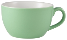 Genware Porcelain Bowl Shaped Cup 17.5cl/6oz Green