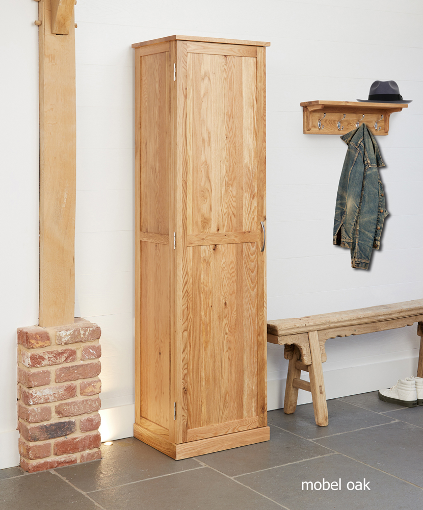 MOBEL - OAK TALL SHOE CUPBOARD