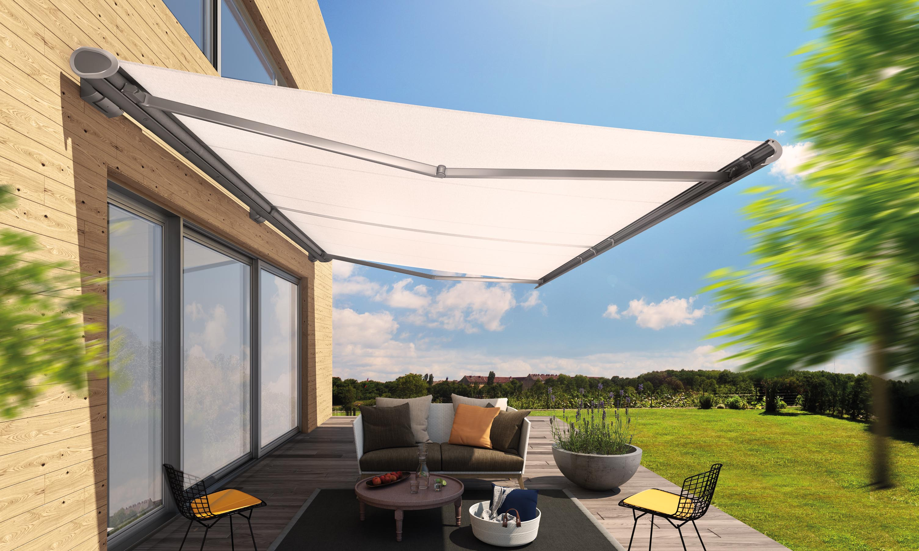 A side view of the Semin Life Awning