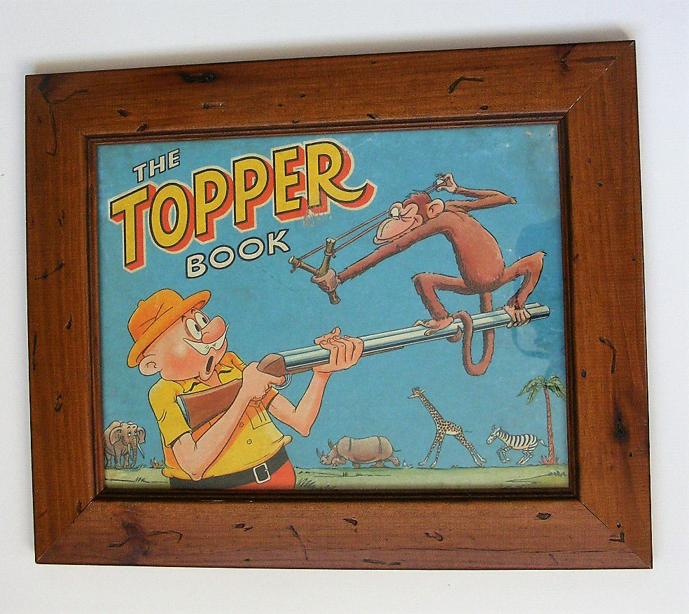 Original Framed Topper Annual  Book Cover 1959