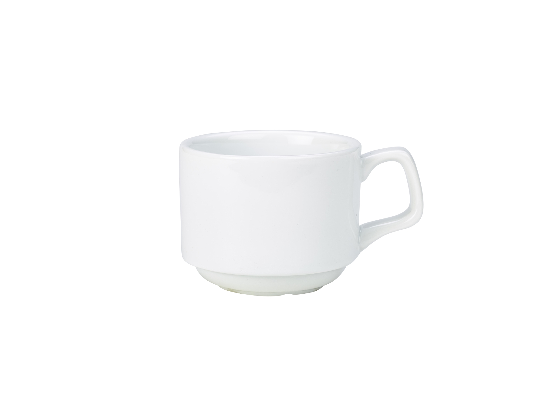 Genware Porcelain Stacking Cup 20cl