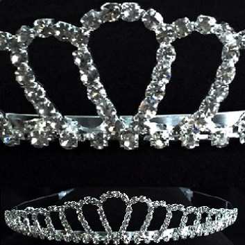 Prom tiaras - the classic diamante tiara