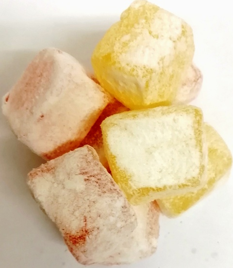CHRISTMAS LEMON AND ROSE TURKISH DELIGHT