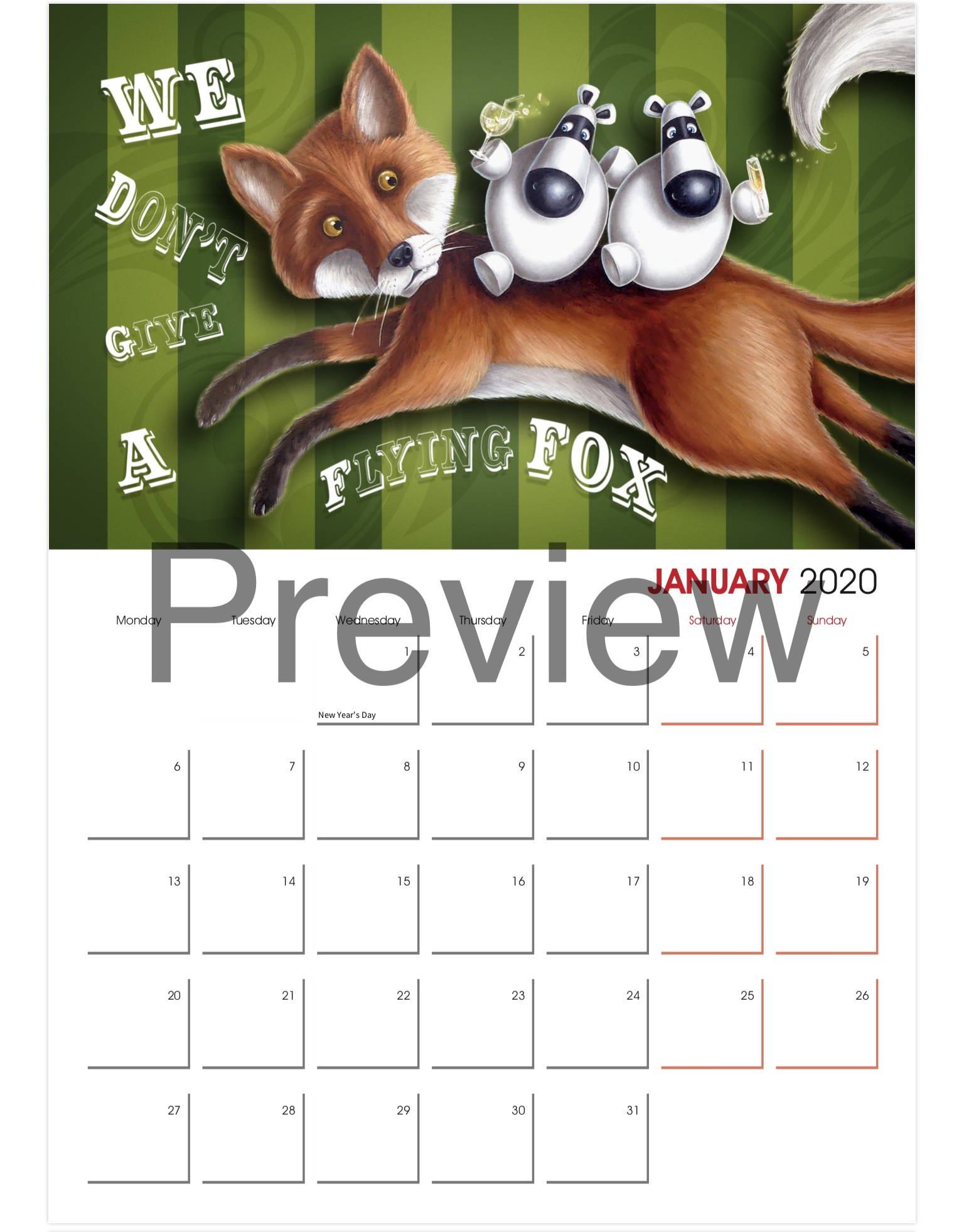 Impossimals 2020 Calendar