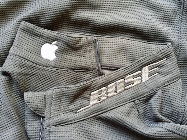 apple bose custom embroidery embroidered