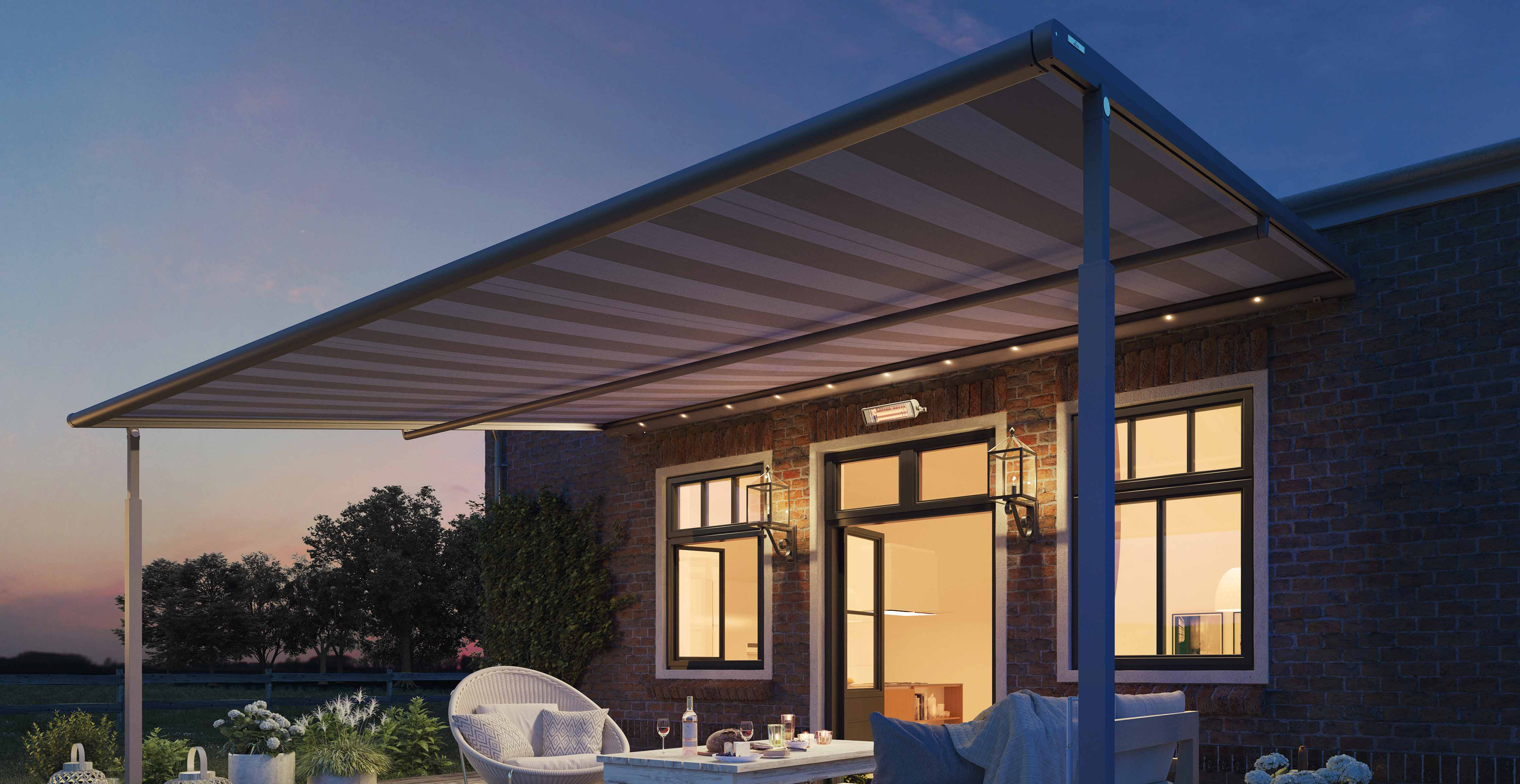 The Plaza Viva Rain Awning with Valance plus gives you more options