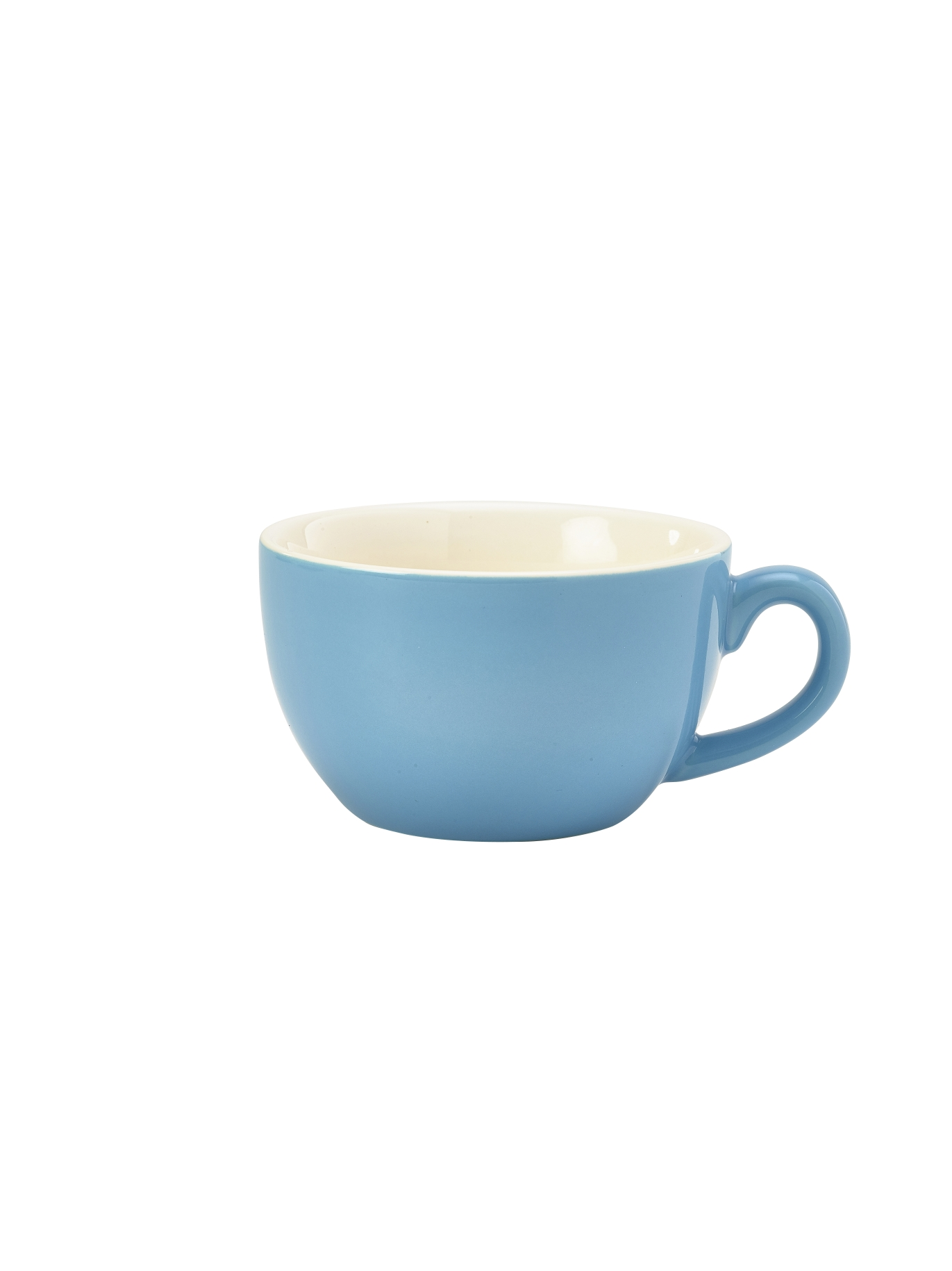 Genware Porcelain Bowl Shaped Cup 25cl Blue