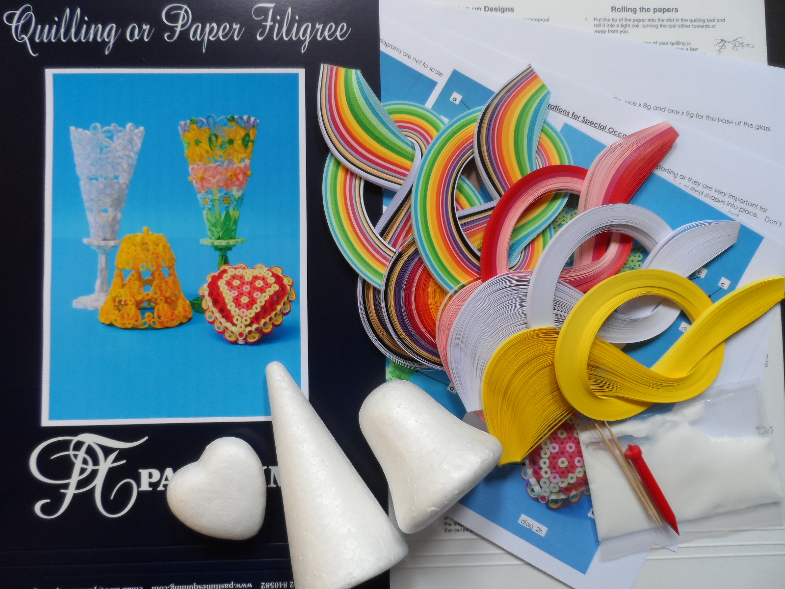 Quilling Kit - Quilled 3D Decorations for Special Occasions