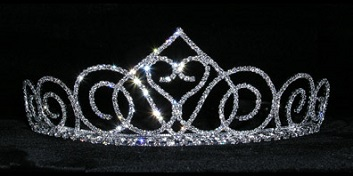 Prom crowns - swooning heart diamante tiara