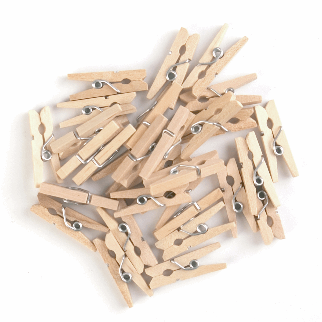 Mini Wooden Spring Pegs, pack of 30