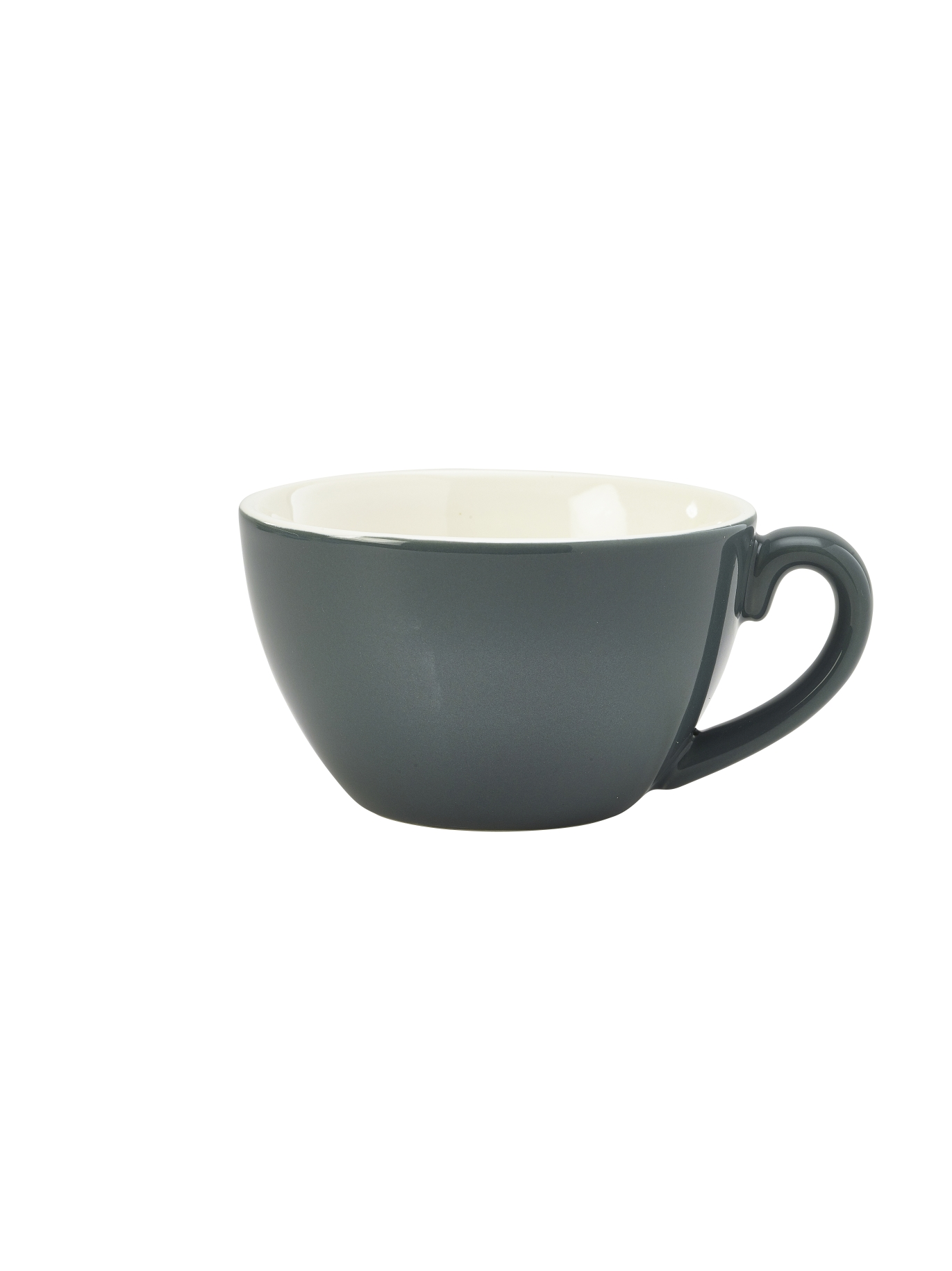 Genware Porcelain Bowl Shaped Cup 34cl Grey
