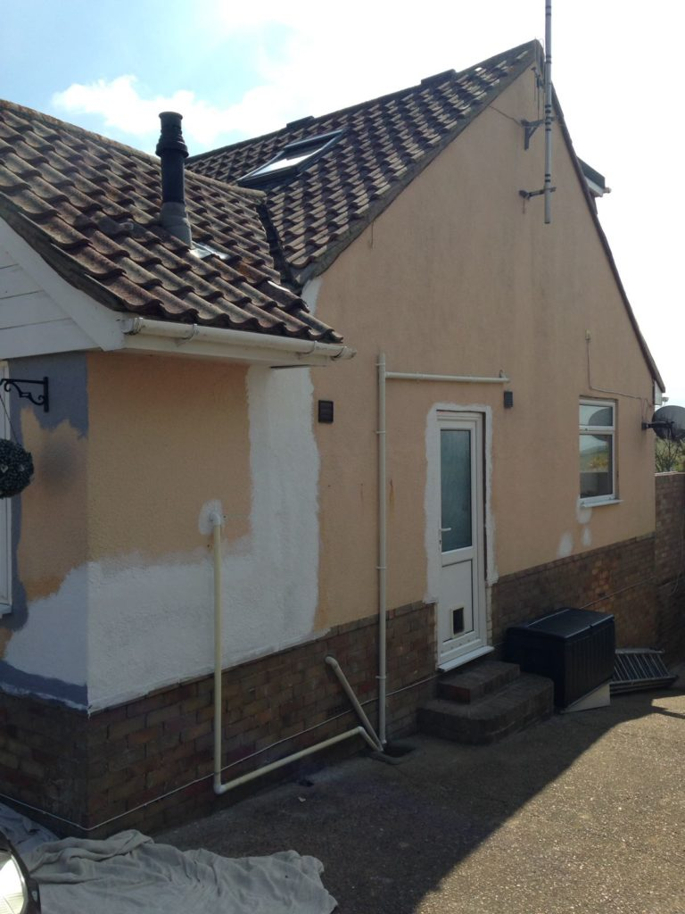 Outside of bungalow before painting was carried out.