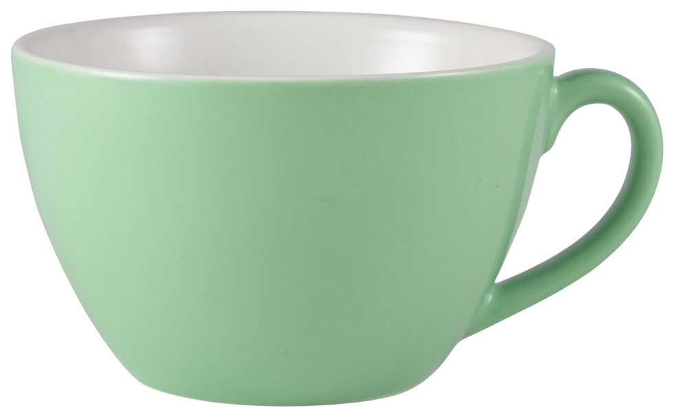 Genware Porcelain Bowl Shaped Cup 34cl Green