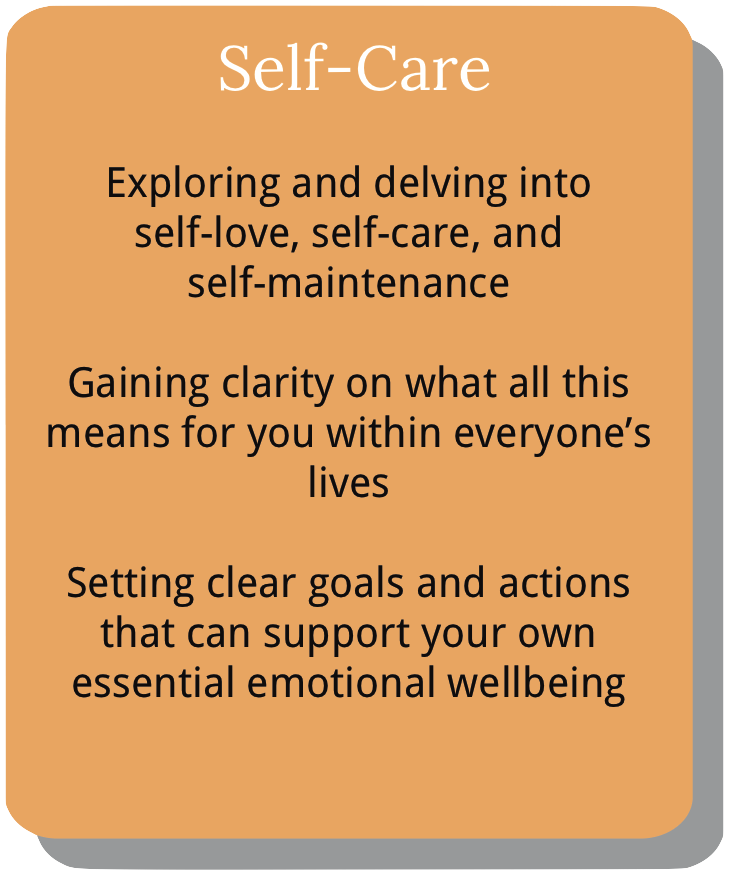 Information about course module 4. Self-care.