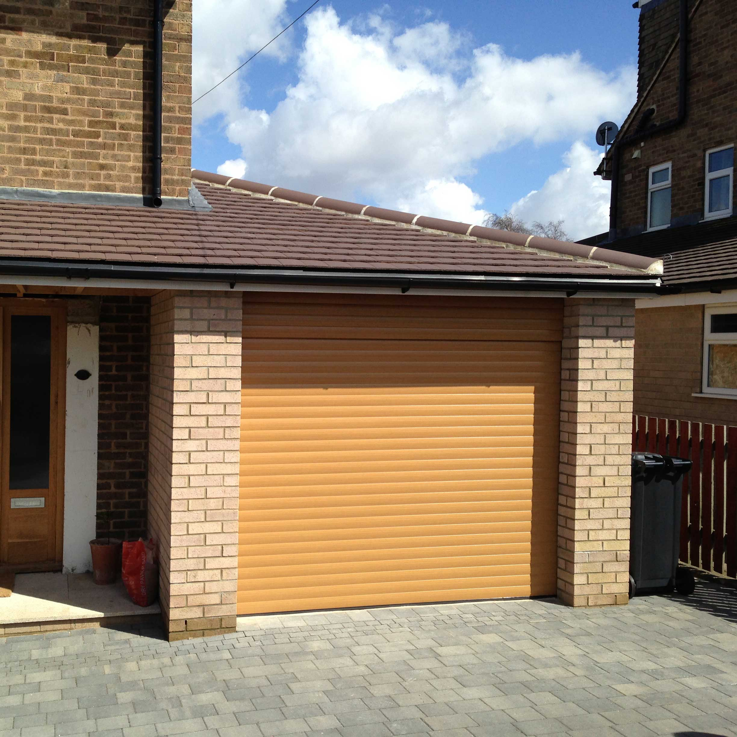Irish Oak roller garage door