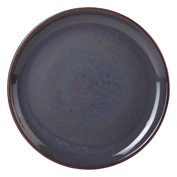 Terra Stoneware Rustic Blue Coupe Plate 24cm