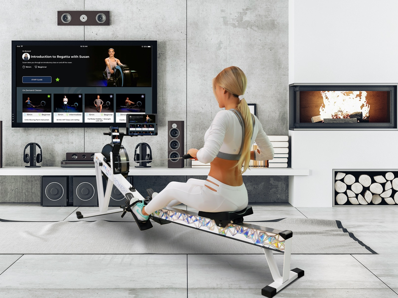 concept 2 model rowing machine graphics