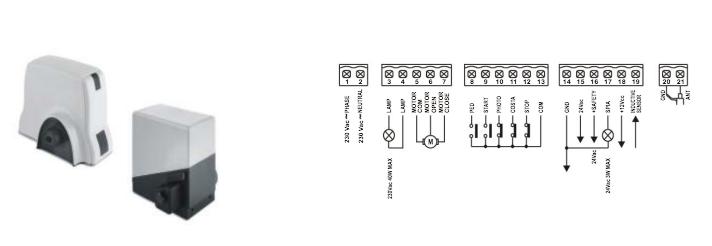 Gibidi SC230 CONTROL PANEL WIRING