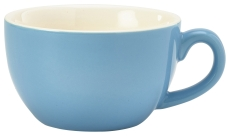 Genware Porcelain Bowl Shaped Cup 17.5cl/6oz Blue