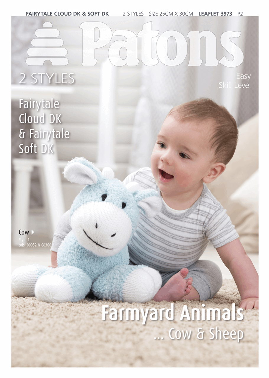 Knitting Pattern - Cow and Sheep to Knit in DK
