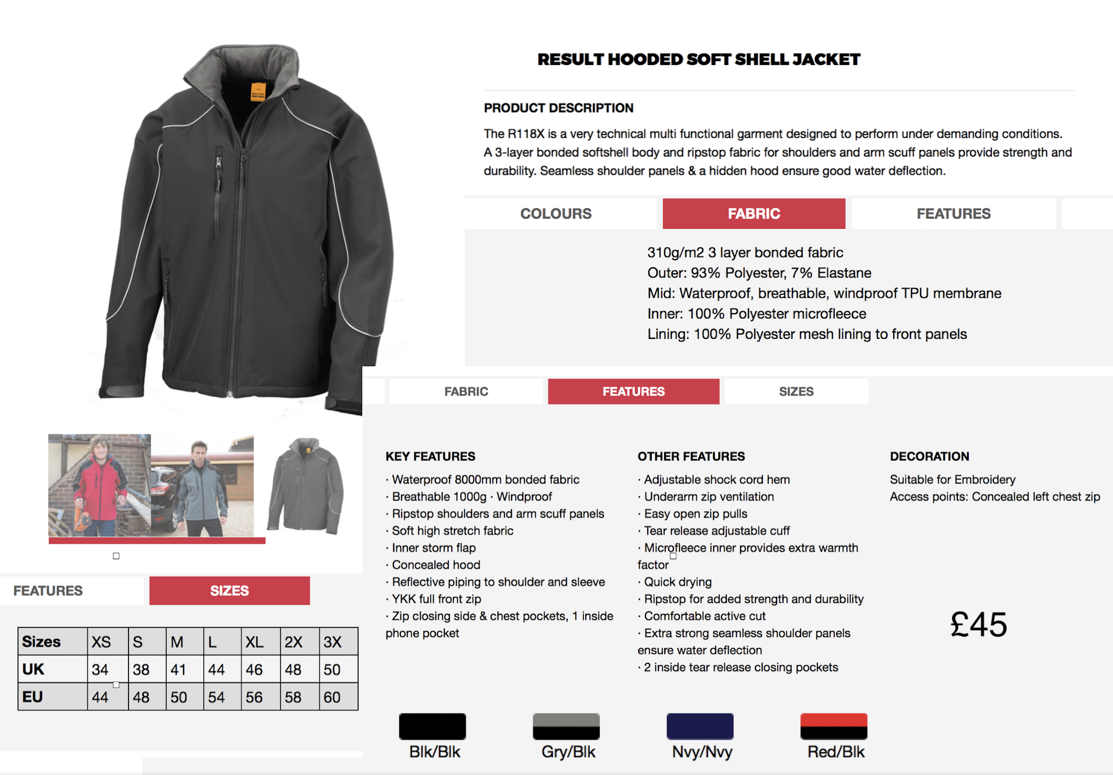 softshell jacket embroidery custom logo embroidered clothing uniform & workwear Pic2Stitch custom embroidery service