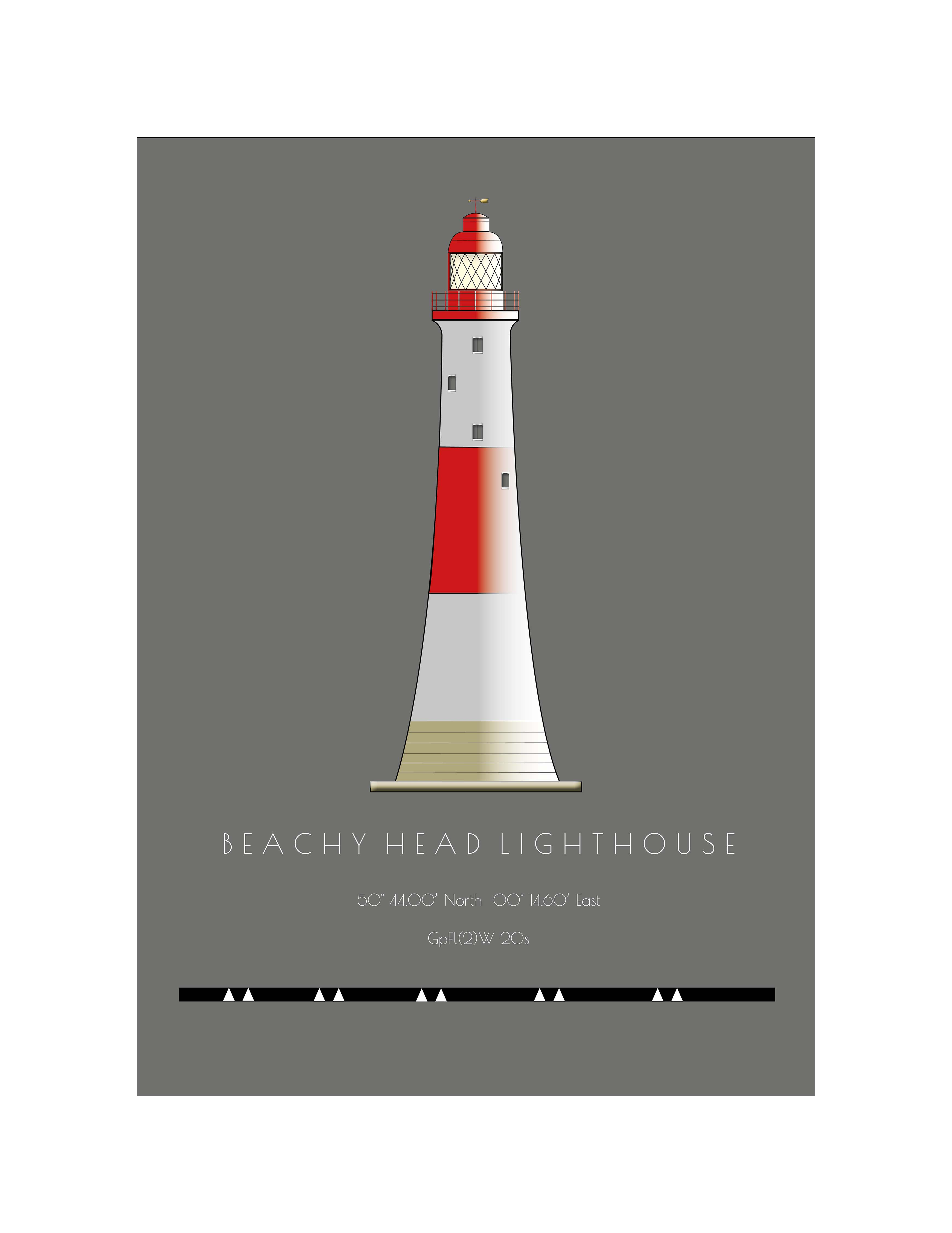 Beachy Head Lighthouse - Single postcard