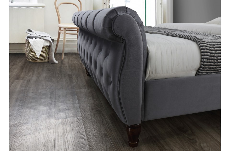 COLORADO GREY FABRIC BED SUPER KING SIZE
