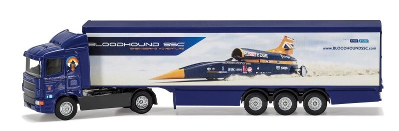 BLOODHOUND SSC SUPER HAULER - 1:64 Scale Truck Die-cast Model - Corgi TY86663