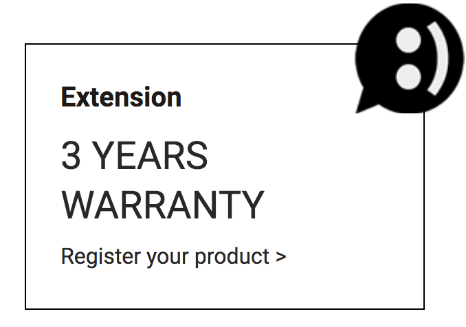 3 YEAR WARRANTY FROM GIBIDI