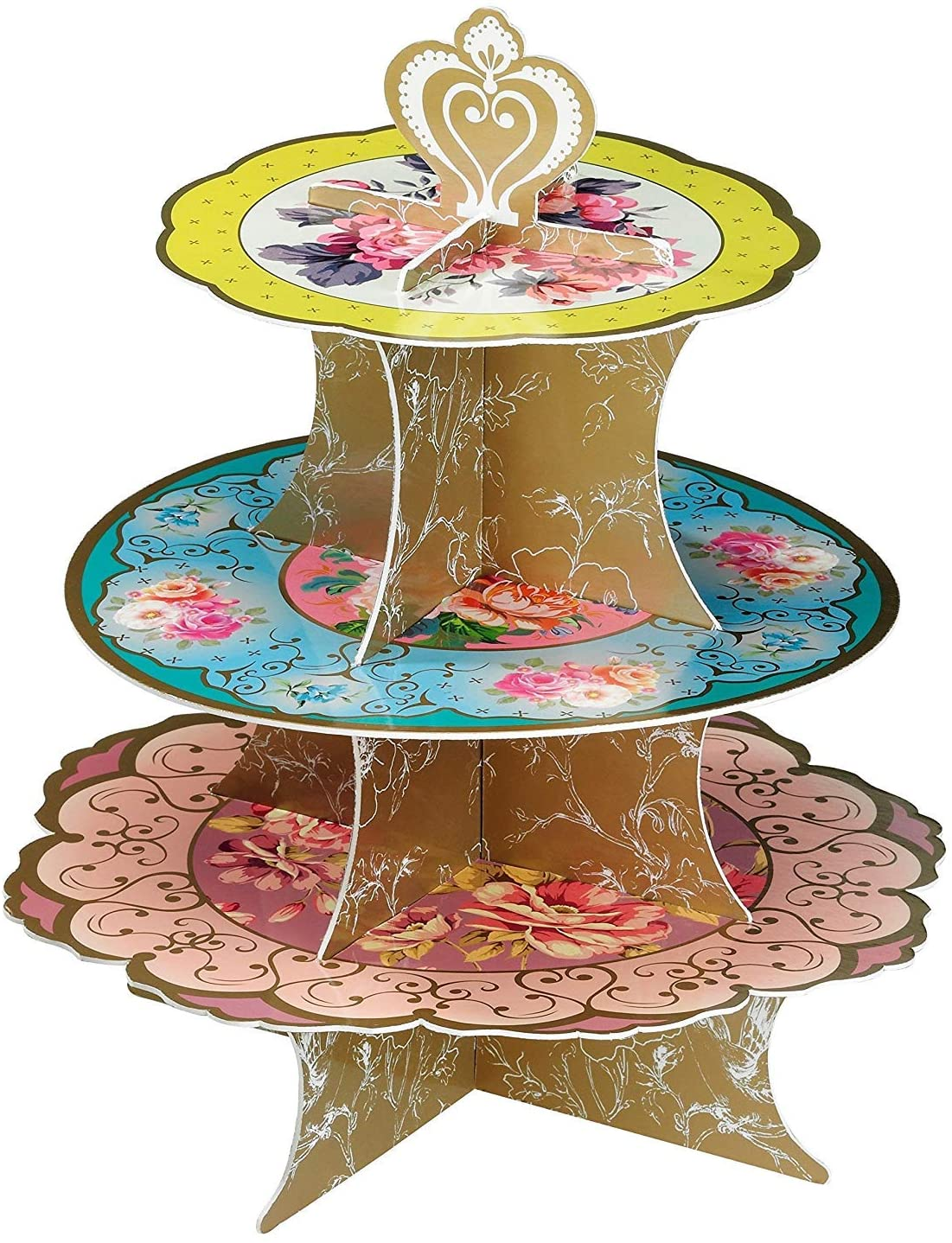Talking Tables Tea Party Decorations Floral Cake Stand
