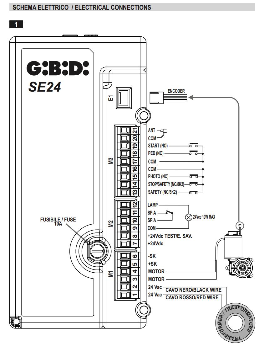 Gibidi New Meka Sl544 Sliding Gate Motor Wiring Diagram