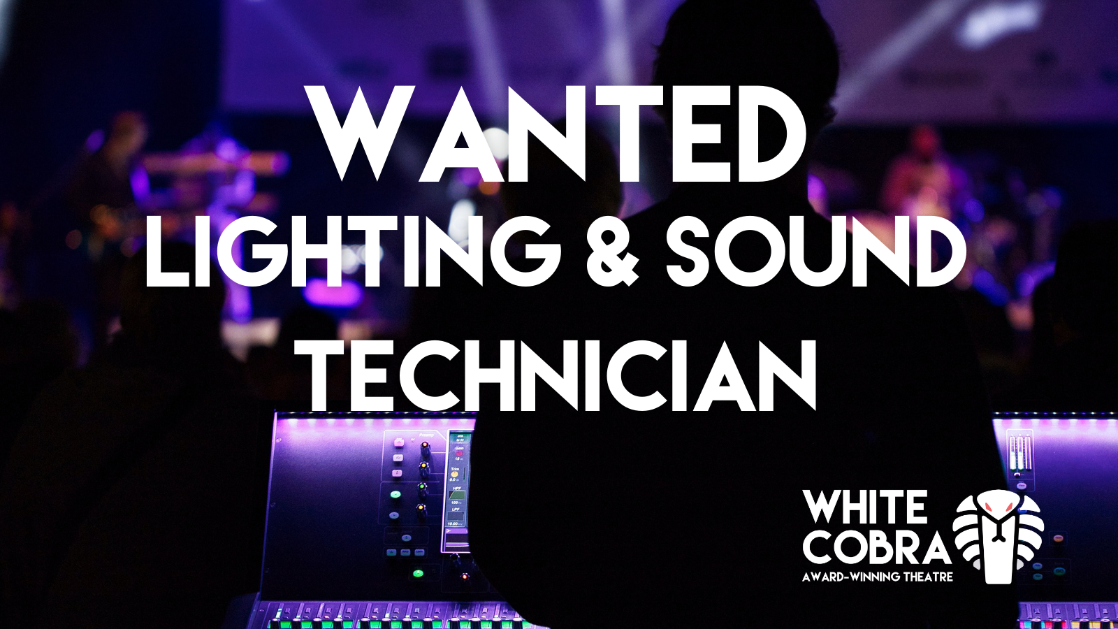 WANTED: Lighting and Sound Technician