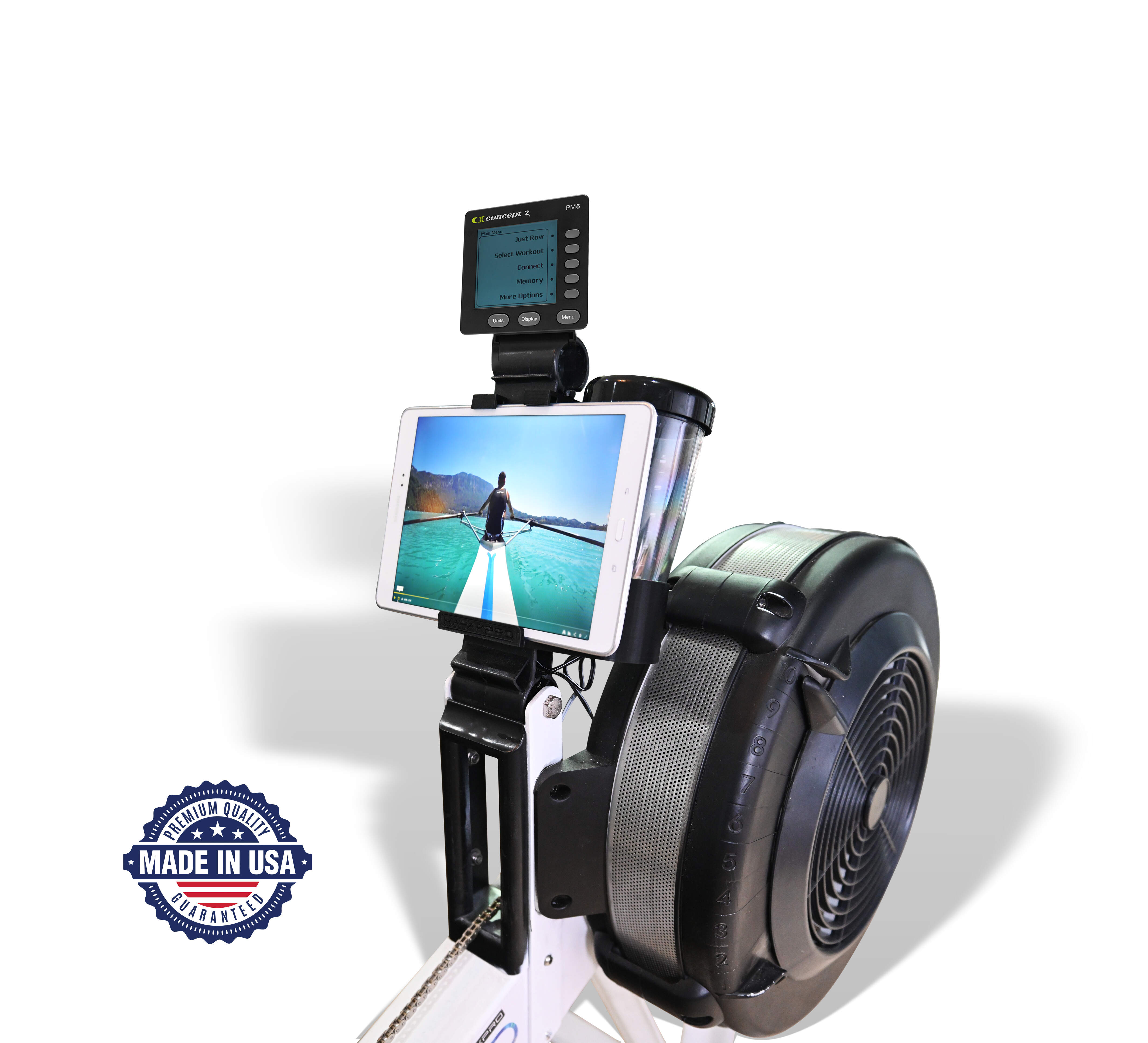 Concept2 Model D Water bottle and Tablet holder