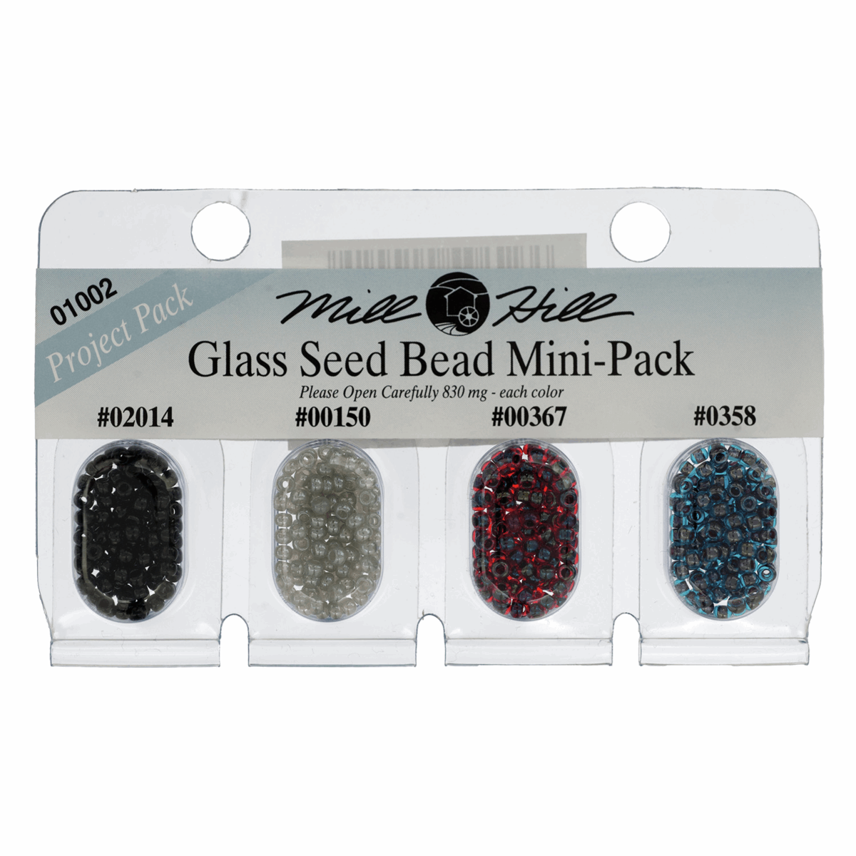 Mill Hill Mini Pack Glass Seed Beads 11/0, 4 Colours per pack
